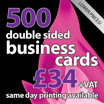 500 double sided matt laminated business cards