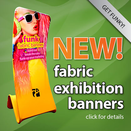 NEW! fabric exhibition banner