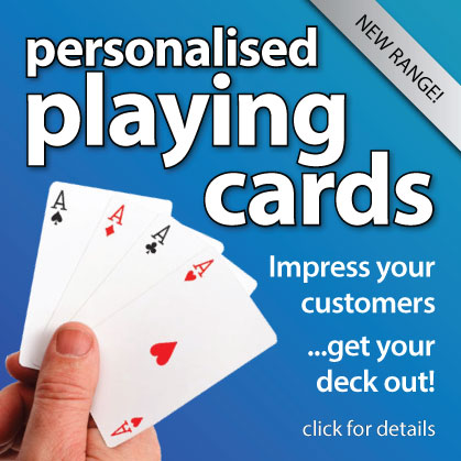 NEW! personalised playing cards