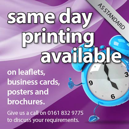 Same day printing available